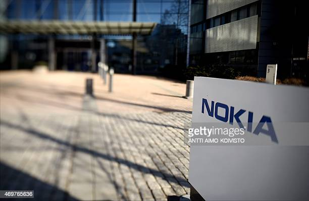 The headquarters of Finnish telecoms equipment maker Nokia in Espoo Finland is pictured with a tiltshift lens on April 15 2015 Nokia said on April 14...