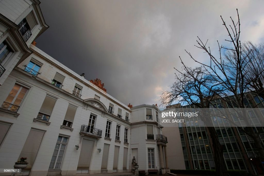 The headquarters of France's National Center for Scientific Research (CNRS - Centre National de la Recherche Scientifique) are pictured in Paris on February 11, 2016. / AFP / JOEL SAGET