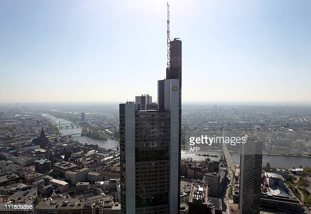 The headquarters of German bank Commerzbank is seen in Frankfurt/M western Germany on April 7 2011 Commerzbank is Germany's second biggest bank AFP...