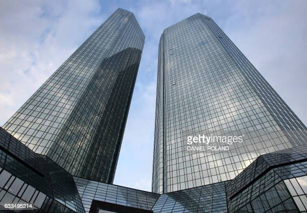 The headquarters of German bank Deutsche Bank is pictured on February 2 2017 in Frankfurt am Main western Germany Troubled German banking giant...