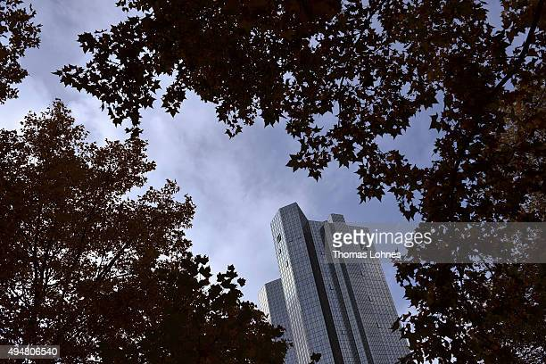The headquarters of German bank Deutsche Bank pictured on October 29 2015 in Frankfurt Germany Deutsche Bank announced at a press conference earlier...