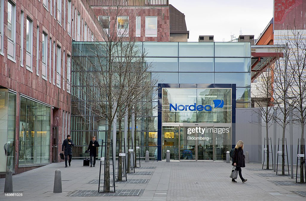 The headquarters of Nordea Bank SA stands in Stockholm, Sweden, on Wednesday, March 13, 2013. Nordea probably will generate 'significant extra capital' in coming years, he said yesterday at the bank's Stockholm headquarters. Photographer: Casper Hedberg/Bloomberg via Getty Images