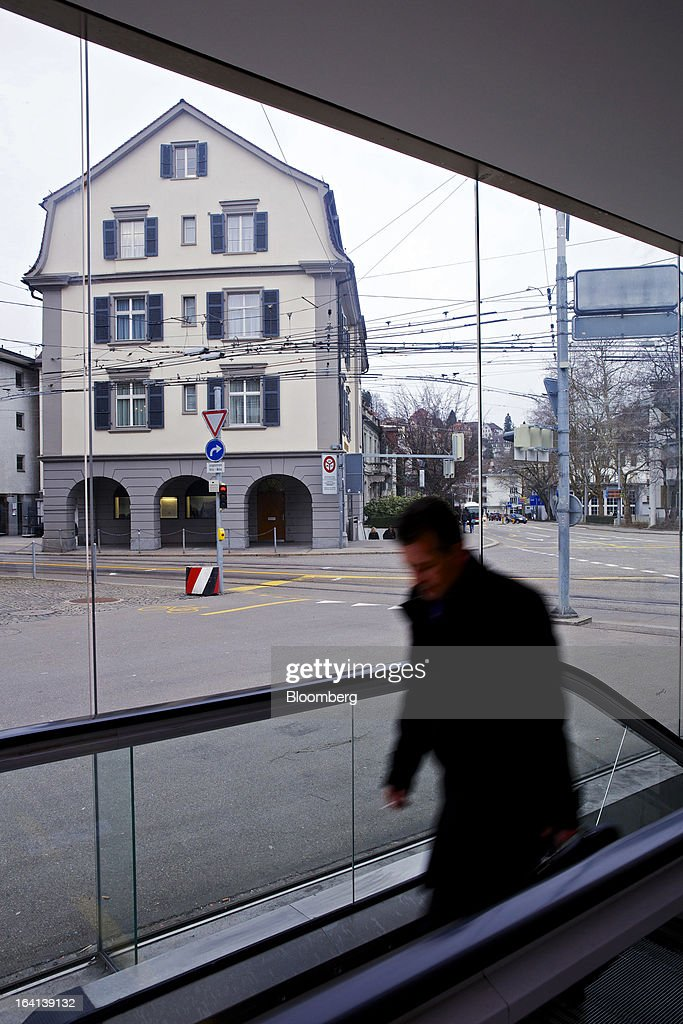 The headquarters of Notenstein Privatbank AG, formerly the headquarters of Wegelin & Co., are seen in St. Gallen, Switzerland, on Wednesday, March 20, 2013. Wegelin & Co., who sold Notenstein Privatbank AG to Raiffeisen Group last year, were ordered to pay U.S. authorities almost $58 million at the end of a criminal case after the Swiss bank pleaded guilty to helping American taxpayers hide more than $1.2 billion from the Internal Revenue Service. Photographer: Gianluca Colla/Bloomberg via Getty Images