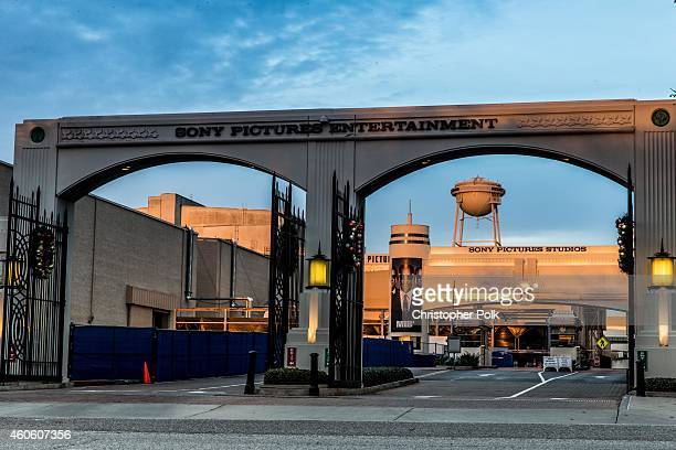 The headquarters of Sony Pictures is seen December 17 2014 in Culver City California Sony has canceled the release of the film 'The Interview' after...