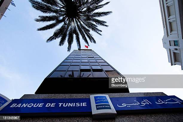 The headquarters of the Banque de Tunisie stands in Tunis Tunisia on Wednesday Nov 2 2011 Tunisia's government expects economic growth to accelerate...