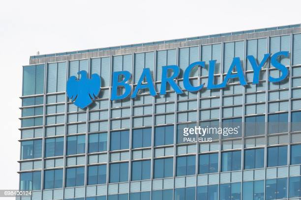 The headquarters of the British bank Barclays is seen at the Canary Wharf district of east London on June 20 2017 Britain's Serious Fraud Office said...
