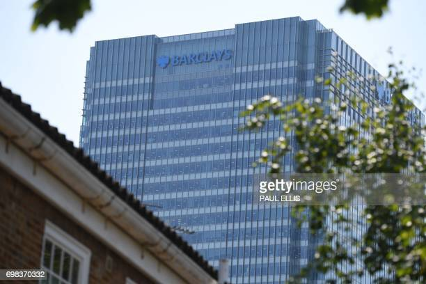 The headquarters of the British bank Barclays is seen in the Canary Wharf district of east London on June 20 2017 Britain's Serious Fraud Office said...