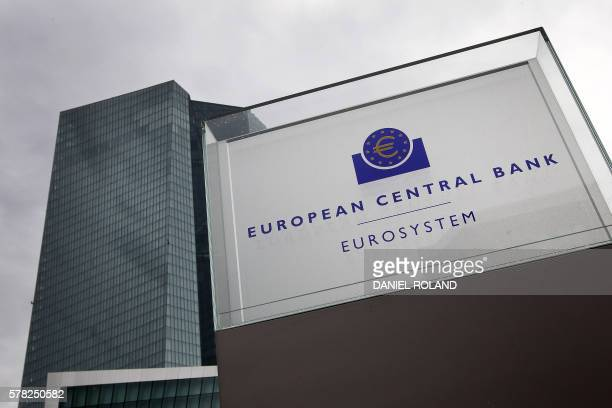 The headquarters of the European Central Bank is pictured in Frankfurt am Main western Germany on July 21 2016 The European Central Bank is ready...