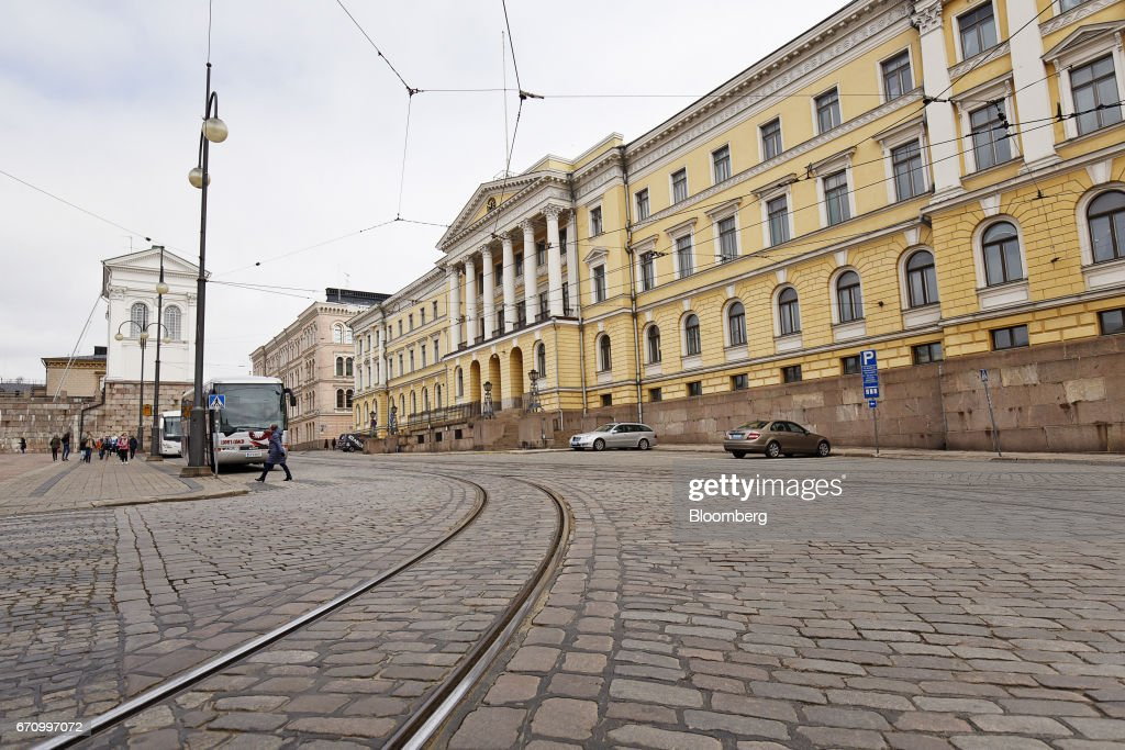 The headquarters of the Finnish finance ministry stands in Helsinki, Finland, on Thursday, April 20, 2017. Instead of showing other EU members how its possible to exit the bloc, the United Kingdom will demonstrate the process involves such immense economic pain that no other country will want to try it out, Orpo said. Photographer: Roni Rekomaa/Bloomberg via Getty Images