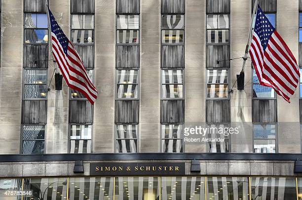 The headquarters of the Simon Schuster book publishing company is on Avenue of the Americas in Rockefeller Plaza in Midtown Manhattan in New York...