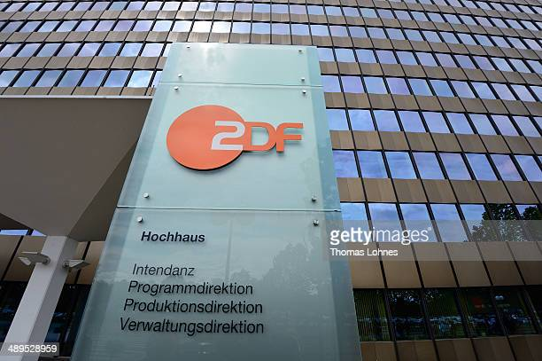 The headquaters of the TV stadion ZDF pictured on May 11 2014 in Mainz Germany