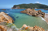 The Heads in Knysna where the lagoon enters the sea, South Africa