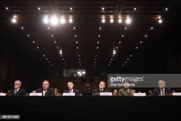The heads of the US intelligence agencies Acting FBI Director Andrew McCabe Central Intelligence Agency Director Mike Pompeo Director of National...