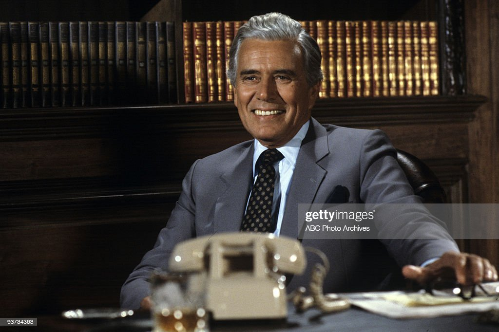 DYNASTY - 'The Hearing Part 1' 10/26/83 <a gi-track='captionPersonalityLinkClicked' href=/galleries/search?phrase=John+Forsythe&family=editorial&specificpeople=91238 ng-click='$event.stopPropagation()'>John Forsythe</a>
