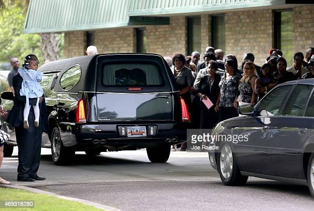 The hearse carrying Walter Scott arrives at the WORD Ministries Christian Center for his funeral after he was fatally shot by a North Charleston...