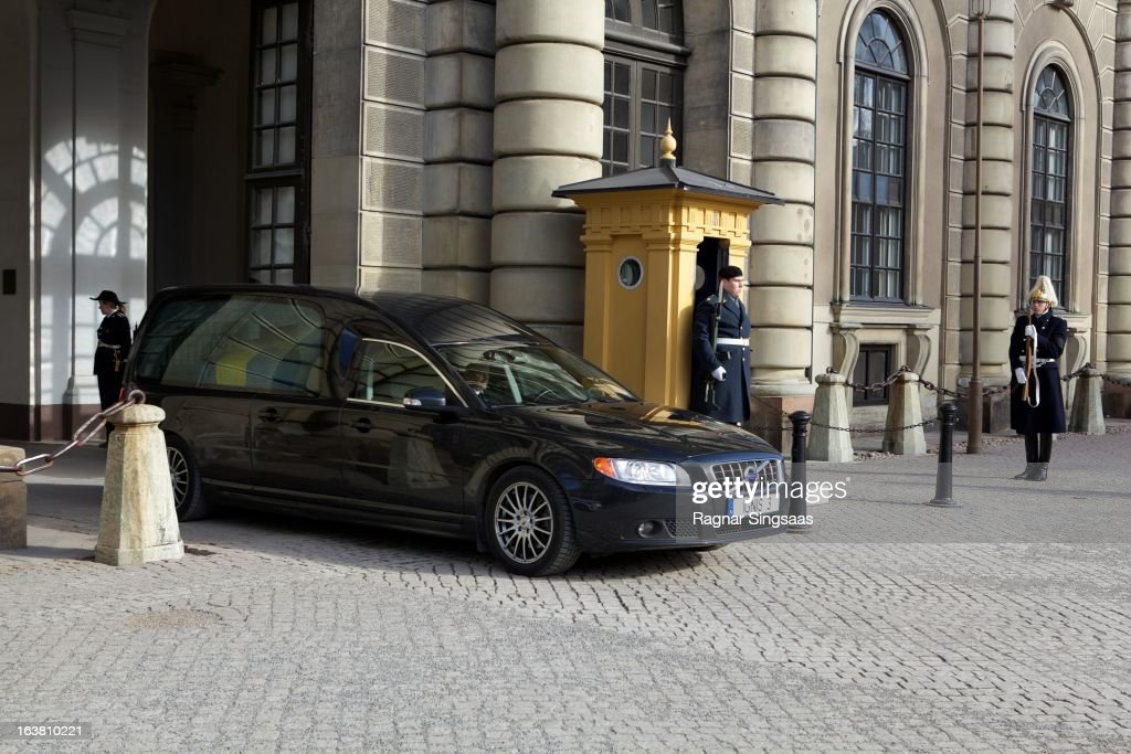 . The hearse containing the coffin of Princess Lilian Of Sweden leaves the Royal Palace on March 16, 2013 in Stockholm, Sweden.