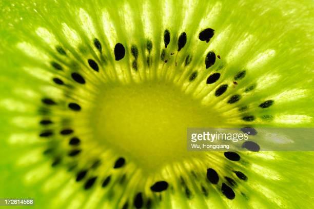 the heart of kiwifruit