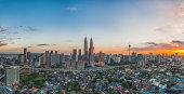 The Heart of Kuala Lumpur during sunset