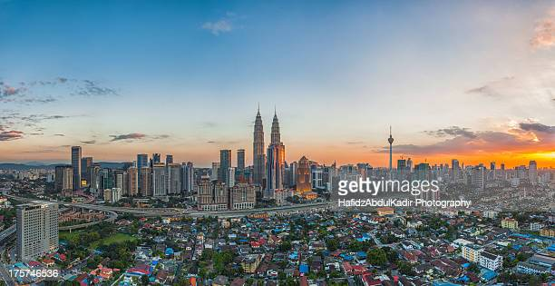 The Heart of Kuala Lumpur during sunset
