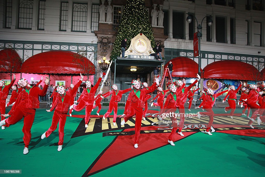 The Heartland Hoedowners of Elkhorn, Nebraska perform during day two of the 86th Anniversary Macy's Thanksgiving Day Parade Rehearsals at Macy's Herald Square on November 20, 2012 in New York City.