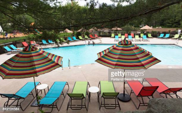 The heated saltwater pool at Sandy Pines Campground in Kennebunkport