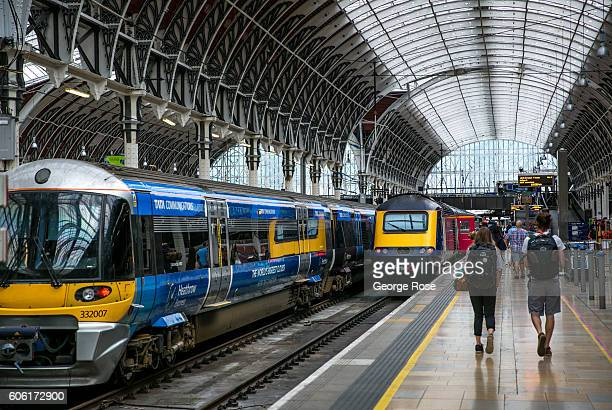 The Heathrow Express is a 15 minute high speed train ride from Heathrow Internatonal Airport to Paddington Station as viewed on September 9 in London...