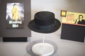 The Heisenberg Hat from the AMC series 'Breaking Bad' is displayed at the National Museum of American History in Washington DC November 10 during a...