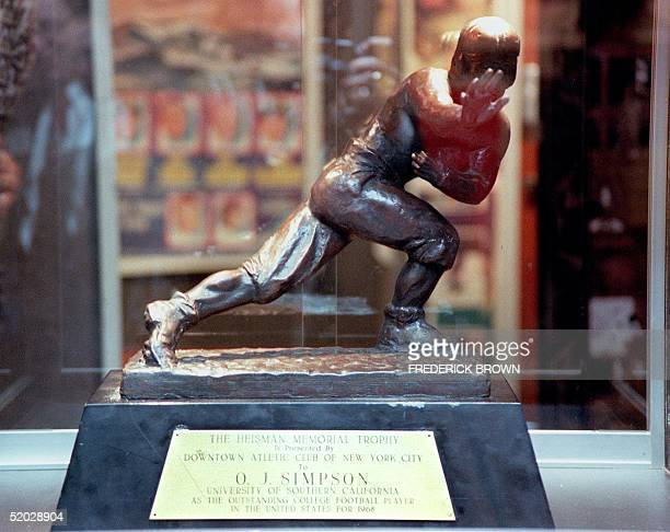 The Heisman Memorial Trophy Award that was presented by the Downtown Atheltic Club of New York City to OJ Simpson in 1968 when he was a senior at the...