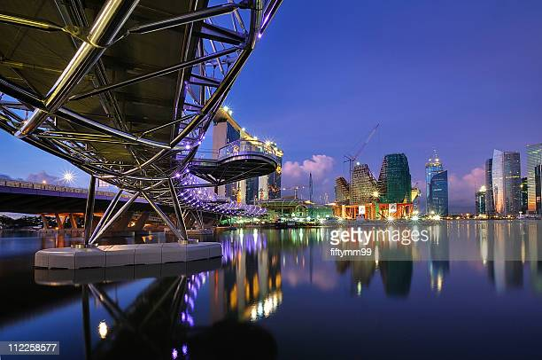 The Helix Bridge, Marina bay sands