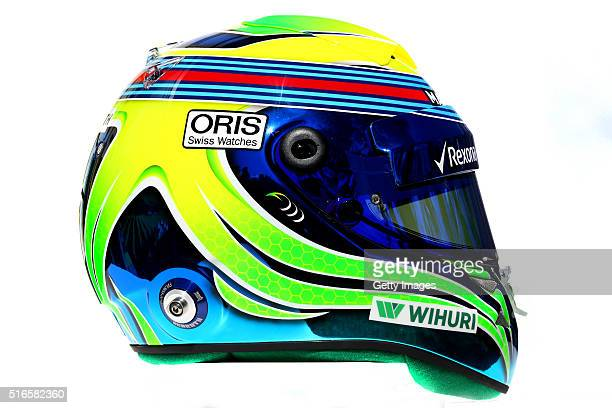 The helmet of Felipe Massa of Brazil and Williams during previews to the Australian Formula One Grand Prix at Albert Park on March 17 2016 in...