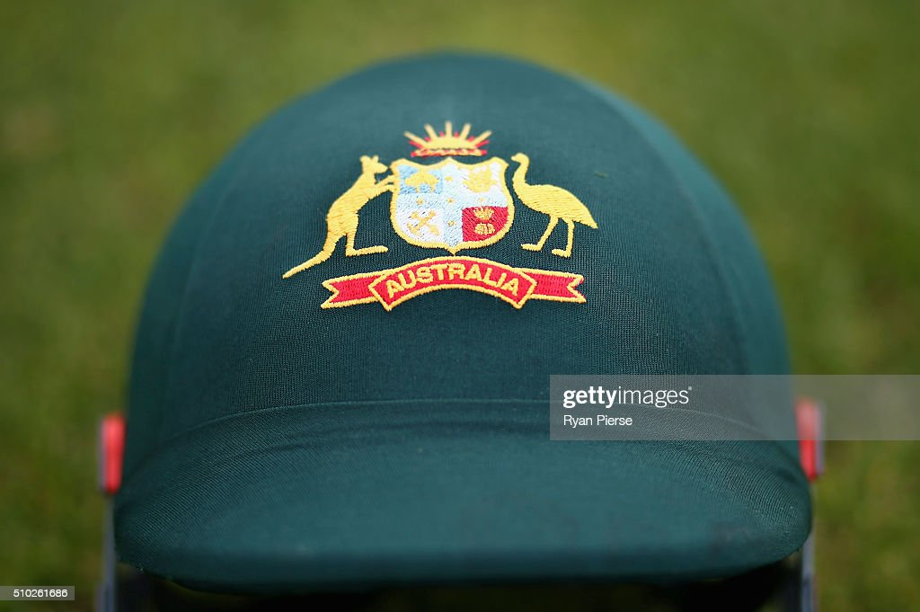 The helmet of Peter Nevill of Australia is seen during day four of the Test match between New Zealand and Australia at Basin Reserve on February 15, 2016 in Wellington, New Zealand.