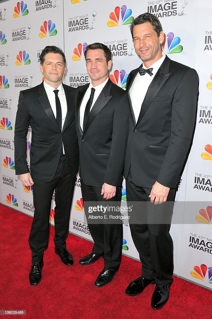 'The Help' Producer Brunson Green Executive Producers Tate Taylor and John Norris arrive at the 43rd NAACP Image Awards held at The Shrine Auditorium...