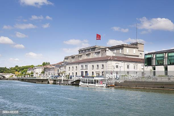 The Hennessy Building on the River Charente at Cognac