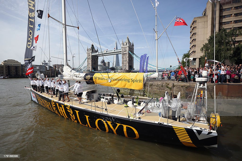 The 'Henri Lloyd' yacht departs from St Katharine Docks for the start of the 'Clipper 2013-14 Round the World Yacht Race' on September 1, 2013 in London, England. The race is set to be the largest in the event's history with 12 yachts manned by 670 crew from over 40 different nations. The 40,000 mile, 8 leg course is set to visit six continents and take approximately eleven months to complete.