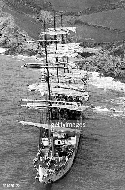 The Herzogin Cecilie on the rocks at Bolt Head Salcombe Devon 27th April 1936