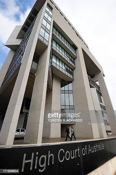 The High Court of Australia in Canberra begins to hear a legal challenge to the government's proposed refugee swap with Malaysia on August 22 2011...