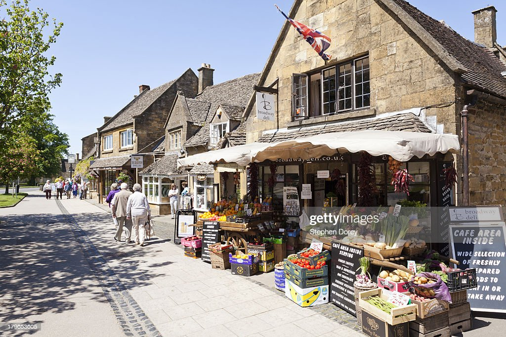 The High Street in Broadway, Worcestershire UK