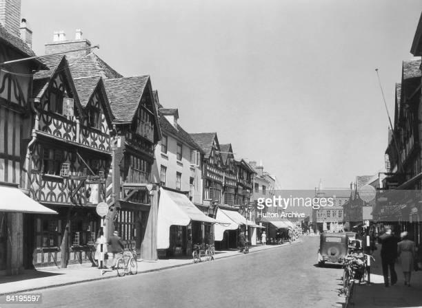 The High Street in StratforduponAvon Warwickshire October 1947
