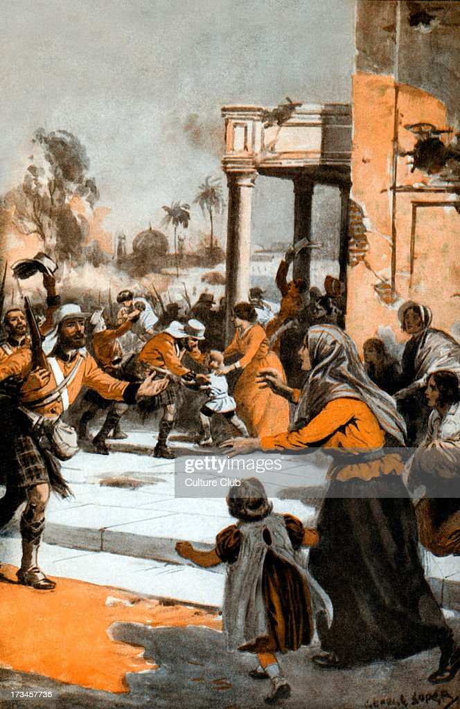The Highlanders at the Relief of Lucknow 1857 Illustration by George Soper