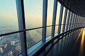 The high-rise viewing platform is located in the shanghai tower