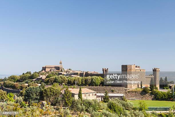 The hilltop town of Montalcino, Tuscany.