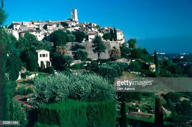 The hilltop town of St Paul de Vence in the AlpesMaritimes France 1986