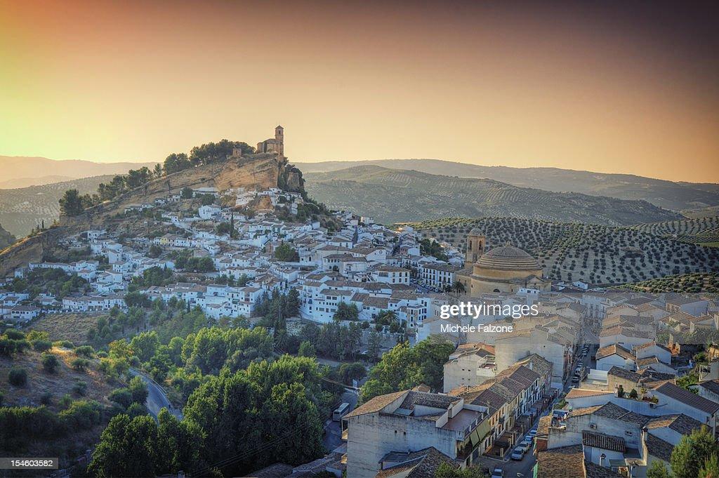 The hilltop village of Montefrio, Grenada Province : Stock Photo