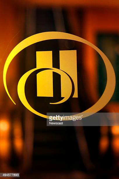 The Hilton logo on a hotel's entrance