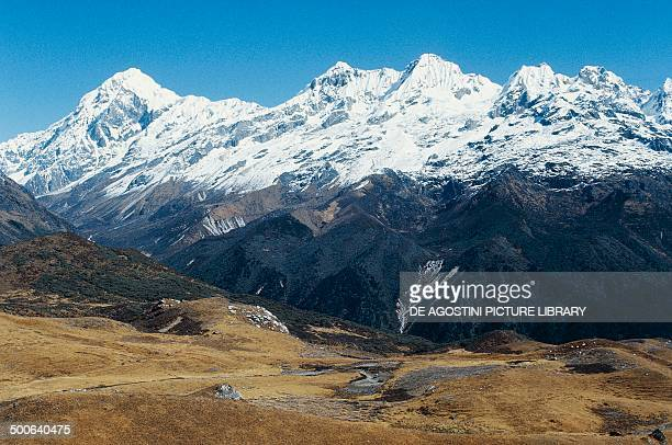 The Himalayas with Pandim Peak in the background Sikkim India
