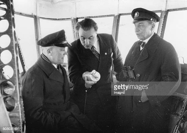 The Hindenburg captains Max Pruss and Ernst A Lehmann 1937 Photograph