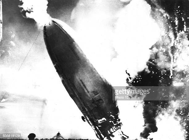 The 'Hindenburg' crashes in flames May 6 Germany USA National Archives Washington