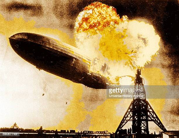 The Hindenburg disaster The German passenger airship caught fire during its attempt to dock with a mooring mast at Naval Air Station Lakehurst...