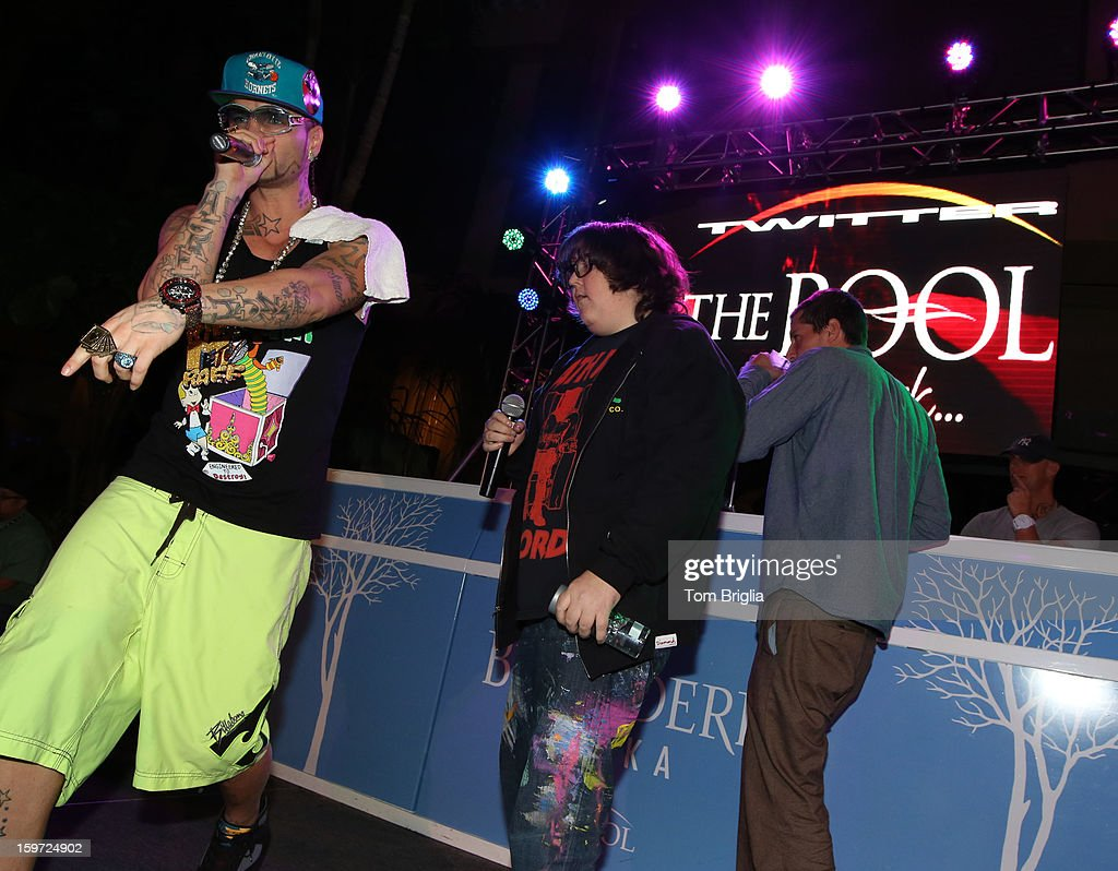 The Hip Hop group Three Loco performed a few of their hits to a large crowd at The Pool After Dark, Harrah's Antic City on Friday January 18, 2013. Three Loco is composed of <a gi-track='captionPersonalityLinkClicked' href=/galleries/search?phrase=Andy+Milonakis&family=editorial&specificpeople=595538 ng-click='$event.stopPropagation()'>Andy Milonakis</a>, <a gi-track='captionPersonalityLinkClicked' href=/galleries/search?phrase=Simon+Rex&family=editorial&specificpeople=208653 ng-click='$event.stopPropagation()'>Simon Rex</a> (Dirt Nasty) and Jody Christian