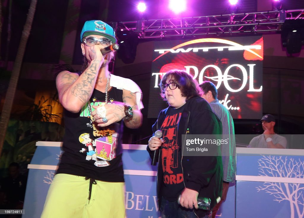 The Hip Hop group Three Loco performed a few of their hits to a large crowd at The Pool After Dark, Harrah's Antic City on Friday January 18, 2013. Three Loco is composed of Andy Milonakis, Simon Rex (Dirt Nasty) and Jody Christian